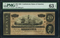 Confederate Notes:1864 Issues, T67 $20 1864 PF-3 Cr. 505 PMG Choice Uncirculated 63 EPQ.. ...