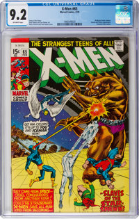 X-Men #65 (Marvel, 1970) CGC NM- 9.2 Off-white pages
