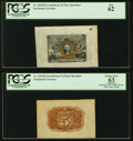 Fractional Currency:Second Issue, Fr. 1232SP 5¢ Second Issue Wide Margin Pair PCGS New 62 and Apparent Choice New 63.. ... (Total: 2 notes)