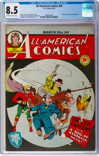 All-American Comics #64 (DC, 1945) CGC VF+ 8.5 Off-white to white pages