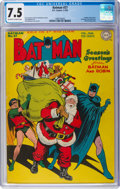 Golden Age (1938-1955):Superhero, Batman #27 (DC, 1945) CGC VF- 7.5 Off-white to white pages....