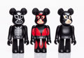 Collectible:Contemporary, BE@RBRICK . Set of Three Be@rbricks 100%. Painted cast vinyl. 2-3/4 x 1-1/2 x 3/4 inches (7 x 3.8 x 1.9 cm) (each). Each... (Total: 3 Items)