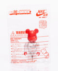 Collectible:Contemporary, BE@RBRICK X Nike. Air Force I 100%. Painted cast resin. 2-3/4 x 1-1/4 x 3/4 inches (7 x 3.2 x 1.9 cm). Stamped to the re...