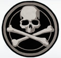 Collectible:Contemporary, mastermind JAPAN . Skull Rug, 2011. Polyester Rug. 46 inch (116.8 cm) diameter. ...