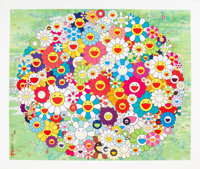 Takashi Murakami (Japanese, b. 1962) Open Your Hands Wide, 2010 Offset lithograph in colors on smoot