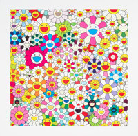 Takashi Murakami (Japanese, b. 1962) Maiden in the Yellow Straw Hat, 2010 Offset lithograph in color