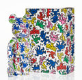 Collectible:Contemporary, BE@RBRICK X Keith Haring Estate. Keith Haring 400% and 100% (two works), 2017. Painted cast resin. 10-3/4 x 5 x 3-1/2 in...