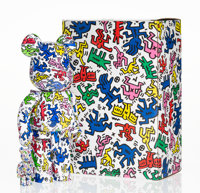BE@RBRICK X Keith Haring Estate Keith Haring 400% and 100% (two works), 2017 Painted cast resin 10-3/4 x 5 x 3-1/2 in