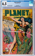 Golden Age (1938-1955):Science Fiction, Planet Comics #51 (Fiction House, 1947) CGC FN+ 6.5 Off-white pages....