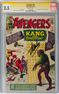Silver Age (1956-1969):Superhero, The Avengers #8 Signature Series: Stan Lee (Marvel, 1964) CGC GD+ 2.5 Off-white pages....