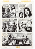 Original Comic Art:Panel Pages, Alfredo Alcala The Savage Sword of Conan #83 Partial Story Original Art Group of 5 (Marvel, 1982).... (Total: 5 Original Art)