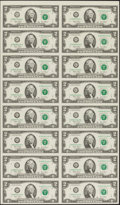 Fr. 1937-G $2 2003 Federal Reserve Notes. Uncut Sheet of 16. Three Examples. ... (Total: 3 sheets)