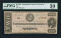 Confederate Notes:1863 Issues, T61 $2 1863 PF-6 Cr. 471 PMG Very Fine 30.. ...