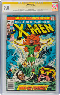 X-Men #101 Signature Series: Stan Lee and Chris Claremont (Marvel, 1976) CGC VF/NM 9.0 White pages