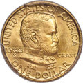 Commemorative Gold, 1922 G$1 Grant Gold Dollar, No Star, MS67 PCGS....