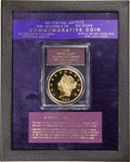 "(2001) $50 SSCA Relic Gold Medal ""1855 Kellogg & Co. Fifty"" Gem Proof PCGS"