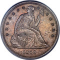 Seated Dollars, 1859-S $1 MS62 PCGS. OC-1, R.2....