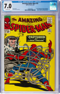 The Amazing Spider-Man #25 (Marvel, 1965) CGC FN/VF 7.0 Off-white pages