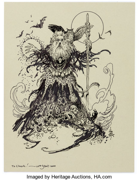 William Stout Wizard And Owl Illustration Original Art 1998 Lot 19170 Heritage Auctions See more ideas about art, illustration art, illustration. https comics ha com itm original comic art illustrations william stout wizard and owl illustration original art 1998 a 121926 19170 s
