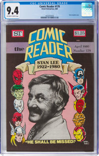 Comic Reader #179 (Street Enterprises, 1980) CGC NM 9.4 Off-white to white pages