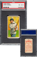 Baseball Cards:Singles (Pre-1930), 1909-11 T206 Hindu-Red Chick Gandil PSA VG-EX 4 - Pop Two, None Higher For Brand! ...