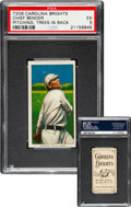 Baseball Cards:Singles (Pre-1930), 1909-11 T206 Carolina Brights Chief Bender (Pitching, Trees In Back) PSA EX 5 - Pop Two, None Higher. ...