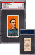 Baseball Cards:Singles (Pre-1930), 1909-11 T206 Hindu-Brown Clark Griffith (Portrait) PSA EX 5 - The Finer of Just Two Confirmed! ...