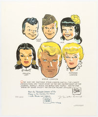 Milton Caniff Dickie Dare--Terry and the Pirates--Steve Canyon--Male Call Sign
