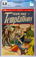 Golden Age (1938-1955):Crime, Teen-Age Temptations #8 (St. John, 1954) CGC VG/FN 5.0 Off-white to white pages....