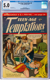 Teen-Age Temptations #8 (St. John, 1954) CGC VG/FN 5.0 Off-white to white pages