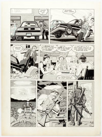 "Ralph Reese National Lampoon #197 Story Page 3: ""Death Wish VII: The Day of Reckoning"" Original Art (National..."