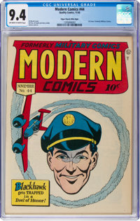 Modern Comics #44 Mile High Pedigree (Quality, 1945) CGC NM 9.4 Off-white to white pages