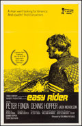 """Movie Posters:Drama, Easy Rider (Columbia, 1969). Very Fine- on Linen. One Sheet (27"""" X 41.25""""). Drama.. ..."""