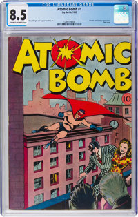 Atomic Bomb #1 (Jay Burtis, 1945) CGC VF+ 8.5 Cream to off-white pages