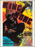 "King Kong (R-1976). Very Fine- on Linen. French Grande (47.25"" X 63""). Horror"