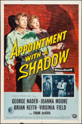 """Movie Posters:Crime, Appointment with a Shadow & Other Lot (Universal International,1958). Folded, Overall: Fine/Very Fine. One Sheets (2) (27"""" ...(Total: 2 Items)"""
