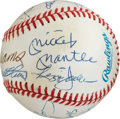 Autographs:Bats, 1980's 500 Home Run Club Signed Baseball....