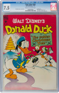 Golden Age (1938-1955):Funny Animal, Four Color #203 Donald Duck (Dell, 1948) CGC VF- 7.5 Cream tooff-white pages....
