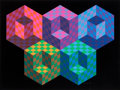 Prints & Multiples:Print, Victor Vasarely (1906-1997). Hexa 5, from Official Arts Portfolio of the XXIVth Olympiad, Seoul, Korea, 1988. Silksc...