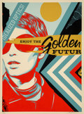 Prints & Multiples:Print, Shepard Fairey (b. 1970). Untitled, from Golden Future for Some, 2017. Screenprint in colors on speckled cream paper...