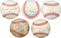 Autographs:Baseballs, 1990's Sports Greats Single Signed Baseballs Lot of 5.... (Total: 5card)