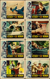 "Attack of the 50 Foot Woman (Allied Artists, 1958). Fine/Very Fine. Lobby Card Set of 8 (11"" X 14""). Reynold B..."