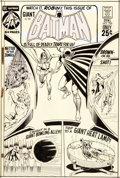 Curt Swan and Murphy Anderson Batman #228 Cover Original Art (DC, 1971)