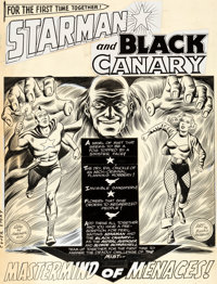 "Murphy Anderson Brave and the Bold #61 ""Mastermind of Menaces!"" Chapter 1 Starman and Black Canary Original Ar..."