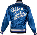 Music Memorabilia:Costumes, Elton John Official Tour Crew Jacket (1975).. ...