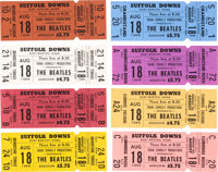 The Beatles Boston Suffolk Downs Set of Eight Tickets (Frank Connelly Productions, 1966)