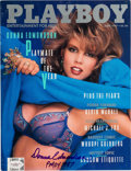 Movie/TV Memorabilia:Autographs and Signed Items, Playboy Donna Edmondson Signed Magazine (1987). . ...