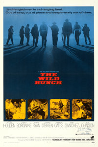 """The Wild Bunch (Warner Brothers, 1969). Very Fine on Linen. Autographed One Sheet (27.25"""" X 41"""")"""