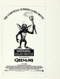 Movie Posters:Horror, Gremlins (Warner Brothers, 1984). Rolled, Very Fine/Near M...