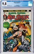 Bronze Age (1970-1979):Adventure, Marvel Feature #1 Red Sonja (Marvel, 1975) CGC NM/MT 9.8 White pages....